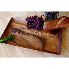 Monogrammed Wood Serving Tray