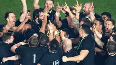 New Zealand huddle round the Webb Ellis Cup V Australia, World Cup Final, All Blacks, Rugby World Cup, Rugby Players, Latest Sports News, One Team, Champs, New Zealand