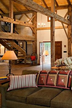 Charleston Barn Home - Heritage Restorations. Find what you need to create a rustic home at www.bisonbuilt.com.