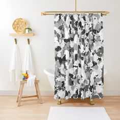 'Winter Camouflage design ' Shower Curtain by MidnightBrain Shower Curtains, Camouflage, Printed, Awesome, People, Design, Products, Art, Art Background