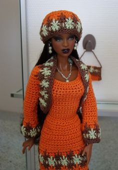 Orange Adele crochet outfit | by salazarbrown10