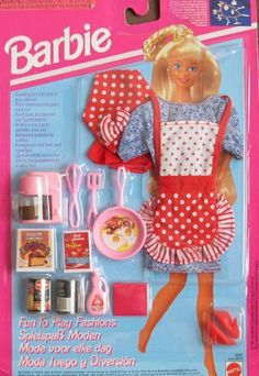 Barbie FUN TO PLAY FASHIONS & Accessories CHEF BREAKFAST TIME (1993) by Mattel. $89.99