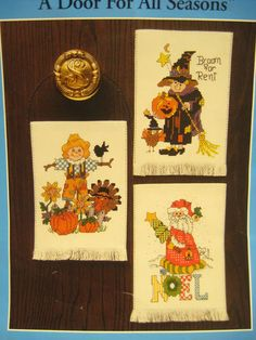 Counted Cross Stitch Kit Christmas Halloween Thanksgiving A DOOR FOR ALL SEASONS