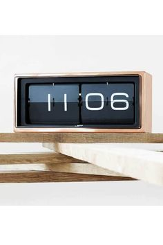 This stylish LEFF Brick Wall/Table Clock has been designed by Erwin Termaat for the manufacturer LEFF Amsterdam.LEFF Amsterdam is known and regarded as a ma Wall Desk, Desk Clock, Flip Clock, Amsterdam, Contemporary Clocks, Wall Watch, Design Bestseller, Digital Clocks, Gift Store