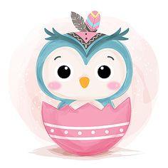 Owl Watercolor, Watercolor Animals, Watercolor Illustration, Fantasy Illustration, Digital Illustration, Graphic Illustration, Graphic Art, Illustration Mignonne, Cute Animal Illustration
