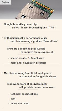 #Google is working on a chip called #TPU for #MachineLearning  #tech #startups #technology http://arzillion.com/S/aex4eR