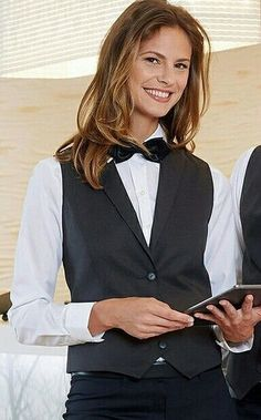 Waitresses Dressed In Work Uniform With Black Bow Tie | Flickr