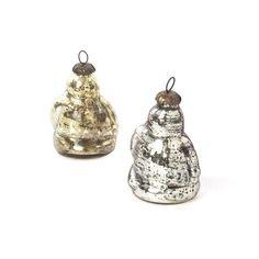 Eclipse Home Collection Set Of Nine Antique Gold Santa Ornament