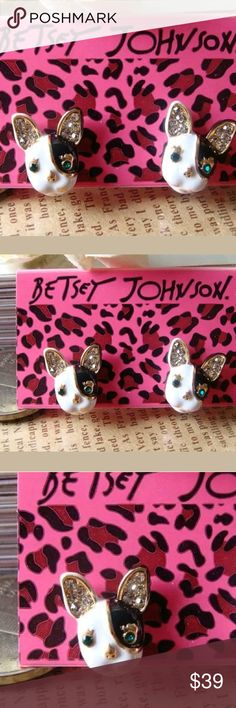 🎉HP! 🐩Betsey Johnson Cutest Lil Pup Earrings!🐩 🎀BOUTIQUE ITEM BRAND NEW IN PKG🎀  🎉This listing is for one pair of Betsey Johnson cutest lil pup earrings! 100% AUTHENTIC. Enamel & 18k gold plated. Nickel & cadmium free. So trendy! Get em while supplies last!🐩💃💃💖  ✨ALL SALES FINAL✨  ANY RUDE REMARKS WILL GET U BLOCKED IMMEDIATELY & REPORTED 2 POSH PER THEIR POLICIES & GUIDELINES. NO TIME 4 PLAYING CHILDISH GAMES OR DRAMA. SORRY. Betsey Johnson Jewelry Earrings