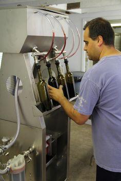 Mike Savino working on bottling day #2011