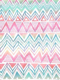#ElementEdenArtSearch Watercolor  Digital Coloring Tribal  Ethnic Patterns by Tanya Brown, via Behance