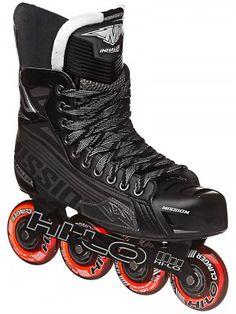 Mission Inhaler DS5 Roller Hockey Skates Sr; SWITCH TO WHITE WHEELS