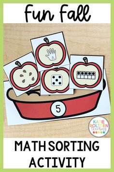 Need an interactive, low-prep activity for fall? Your elementary students will love practicing foundational math skills by making yummy apple pies! Each apple pie practices number recognition and different visual representations of each number 1-10. This apple pie math sorting activity is perfect for math centers, morning tubs, independent work, small groups, or whole group!