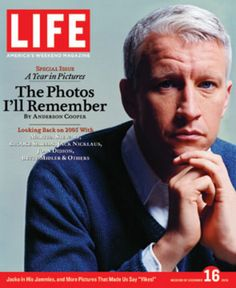 He's got arguably the most recognizable and trusted face in TV news today, and it certainly doesn't hurt that said face is easy on the eyes. He's Anderson Cooper, the intrepid CNN journalist who pops. Cnn Anderson Cooper, Life Cover, Pretty Blue Eyes, Famous Stars, News Anchor, Daddy Issues, Life Photo, Life Magazine, News Today