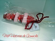 Brochetas chuches / gominolas / rojo / bodas / comuniones