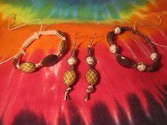 Adjustable Hemp Bohemian Beaded Bracelet Set by UniqueHempDesigns
