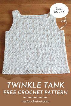 Crochet Tank Tops, Crochet Summer Tops, Crochet Blouse, Knitted Tank Top, Crochet Sweaters, Sweater Knitting Patterns, Crochet Clothes, Crochet Patterns, Crochet Girls
