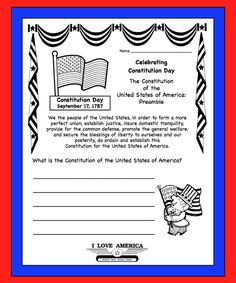 constitution day printable reader with comprehension social studies school and teaching ideas. Black Bedroom Furniture Sets. Home Design Ideas