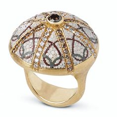 Dome: Mosaic art on a miniature scale combining diamonds from Italian company, Le Sibille.