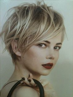 Short blonde hair. Love it! (perhaps the best pic of her ever)