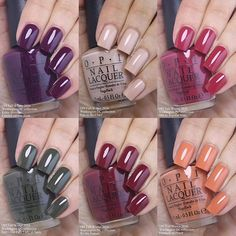 The last 6 polishes in the new #OPI Washington DC Collection. Kerry Blossom…