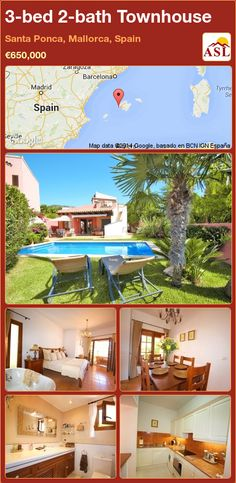 3-bed 2-bath Townhouse in Santa Ponca, Mallorca, Spain ►€650,000 #PropertyForSaleInSpain