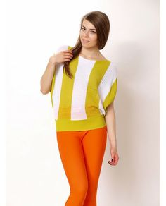Pomarańczowe, słoneczne legginsy.