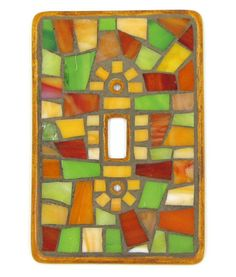 Ceramic Mosaic Stained Glass Single Switch Plate Cover Home Decor