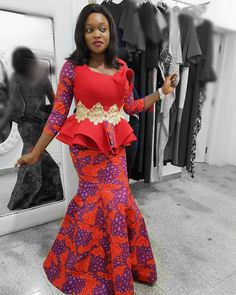 Hello fashionista, we bring you supper utra stylish peplum ankara skirt and blouse to add to your wardrop.below here are top selected stylish peplum ankara skirt and blouse for wedding and every other Kente Styles, Latest Ankara Styles, Latest African Fashion Dresses, African Dresses For Women, African Print Fashion, African Attire, African Wear, African Prints, African Lace
