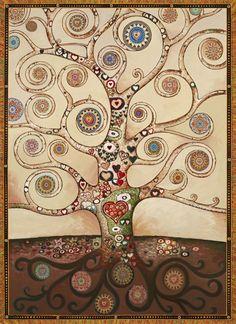 Healing Heart Tree White (art by Paul Heussenstamm)