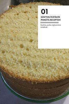 Szaftos, tejfölös piskóta receptem Lidl, Cornbread, Vanilla Cake, Cake Recipes, Ethnic Recipes, Desserts, Food, Cakes, Millet Bread