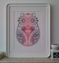Sugar Owl - Original Limited Edition Screen Print