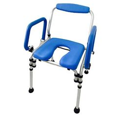 MedMobile 3-in-1 Commode Wheelchair Bedside Toilet & Shower Chair