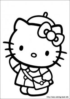 Hello Kitty Coloring Pages  Printables