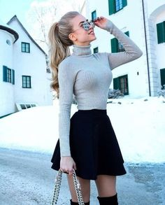 Cute Skirt Outfits, Cute Fall Outfits, Winter Fashion Outfits, Cute Skirts, Girly Outfits, Cute Fashion, Classy Outfits, Look Fashion, Pretty Outfits