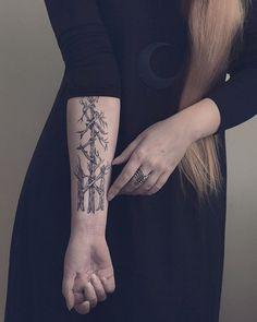 second mark my own bind rune #tattoo #blackwork #rune #tree
