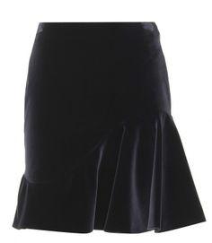 Alexander McQueen Flared Velvet Skirt