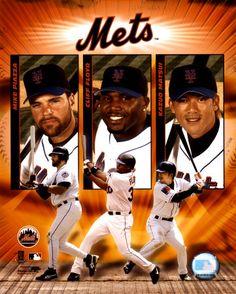 Piazza, Floyd & Matsui New York Mets, Mlb, Baseball Cards, Sports, Hs Sports, Sport