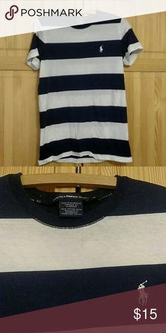 Ralph Lauren? sport navy and white stripped shirt Shirt is in good condition. Ralph Lauren Tops Tees - Short Sleeve