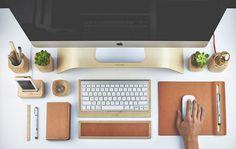 The Grovemade Desk Collection, um jeito completamente estiloso de arrumar a sua mesa de trabalho.