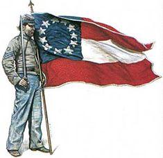 us flag during civil war