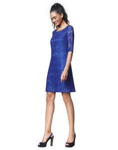 Norah is the perfect style solution for special occasions. This luscious lace dress has beautiful transparent sleeves, a feminine waistline and slightly. Cobalt, Lace Dress, Special Occasion, Cold Shoulder Dress, Feminine, Slingbacks, Sleeves, Beautiful, Dresses