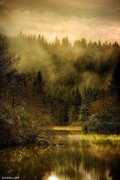 Autumn Mist, Loch Ard, Trossachs, Scotland