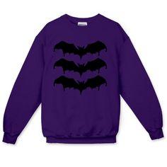 Midnight Bats Crewneck Sweatshirt - Pastel Goth - Printfection.com
