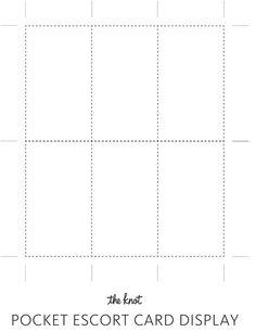 Escort Card Display Template | TheKnot.com