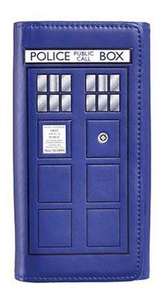 Doctor Who TARDIS Embossed Flap Wallet! #DoctorWho #Wallet