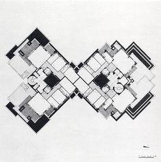Gian Paolo Valenti 1962   Gian Paolo Valenti, Casabella , 1962 , projekt