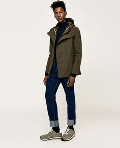 a194f0f093 ZARA - MAN - MILITARY-STYLE PARKA Military Fashion