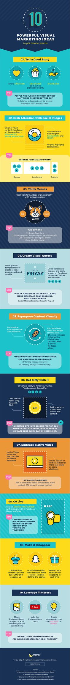 10 Powerful Visual Marketing Ideas to Get Insane Results #Infographic #ContentMarketing #Marketing