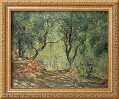 Olive Grove in the Moreno Garden, 1884 Stretched Canvas Print by Claude Monet at Art.com